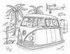 Camp Bug (rod1691) Tags: myart art sketchbook bw scifi grey concept custom car retro space hotrod drawing pencil h2 hb original story fantasy funny tale automotive illistration greyscale moonpies sketch sexy vw bus