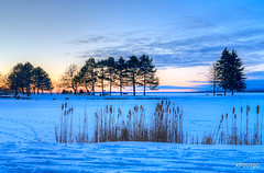 Winter Sunset (explored March 18, 2018) (xiaoping98) Tags: winter sunset ottawa snow sky orange nature landscape ottawariver