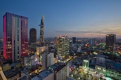 Ho Chi Minh City (Rolandito.) Tags: south east asia southeast vientnam hcmc ho chi minh city saigon dusk twilight night nightfall bar vantage point light lights illumination illuminated