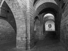 Iglesia Prerrománica (Patataasada) Tags: sanjuandelapeña monasterio realmonasterio iglesia iglesiaprerrománica huesca jacetania aragón pirineo pirineoaragonés jaca románico blancoynegro byn bw