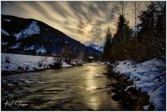 An der Steyr (Karl Glinsner) Tags: landschaft landscape austria österreich oberösterreich upperaustria hinterstoder stodertal steyr fluss river berge gebirge mountain mountains schnee snow winter wolken clouds salzkammergut alpen alps