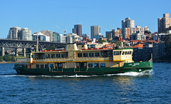 Lady Herron underway (PhillMono) Tags: nikon dslr d7100 australia new south wales sydney harbour ship boat vessel ferry lady herron reflection perspective creative maritime nautical