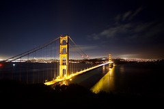 golden gate wide (matteo.panciroli) Tags: goldengate landscape nightscape longexposure san francisco california bay bridge lights