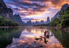 22 Cormoront Fishing - PRINT (NDPS PORTFOLIO) Tags: asia china cormorant fishermen guilin howarth landscape robhowarth xingping yangshoo