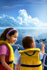 Kids Whale-watching (Jeremy Norton) Tags: illustration childrensbooks childrensillustration stories whale watchiing ocean boat