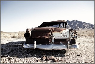 Old Ford In The Desert