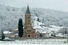 Oust (Ariège) (PierreG_09) Tags: ariège pyrénées pirineos couserans neige hiver village chapelle église clocher oust pouech saintbarthélémy