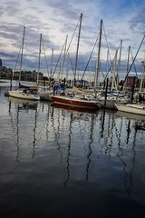 Reflections, Victoria (rick miller foto) Tags: reflections reflection victoriabc victoria bc british columbia canada harbour harbor sailboat sailboats dusk justbeforedusk sky water marina westcoast west coast serene pacific ocean