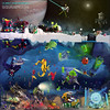Quest for europa, a digital LEGO space collaboration (Brixnspace) Tags: lego mining collaboration space spacescene cs llwyngwril blacktron tequilatron moc laz0r abs absinite operation foitsop sattelite europa moon jupiter underwater nautic submarine monster deepsea discovery quest spacestation collab