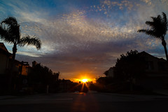 What you see is what you get. (peaflockster) Tags: sunset sky clouds colorful california light shadows silhouette canon