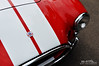 Striped Cobra (Hi-Fi Fotos) Tags: cobra ac shelby ford red vintage racing stripes hood badge race car roadster fast speed chrome classiccar nikon d5000 hififotos hallewell