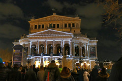 Changing Times at the Opera Square (JB Fotofan) Tags: luminale2018 luminale frankfurt lightart lichtkunst nightshot nacht lumixfz1000 licht lights opernplatz