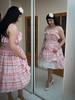 Dreaming of Summer (blackietv) Tags: white pink summer dress full skirt petticoat vintage retro tgirl transvestite crossdresser crossdressing transgender