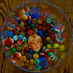 Saturated Boy in Saturated Marbles (ricko) Tags: marbles boy son nathan photo jar saturated werehere face 62365 2018
