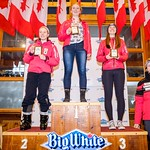 Western Ski Cross finals at Big White - U16 Women - Overall  Points Podium PHOTO CREDIT: Todd Cashin