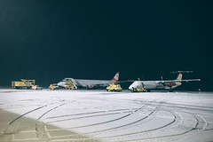 GRZ spring II (wketsch) Tags: aircraft travel airport spring snow icy fridge grz graz flight transportation morning iphone exploration truck car street