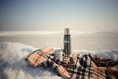 Coffee on ice (Jutta Bauer) Tags: stanley outdoor mug coffee ice snow winter