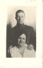 Mother and (military?) son (912greens) Tags: portraits wwi soldiers mothers sons folksidontknow uniforms 1910s