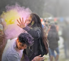 Holi Festival in the snow in Leicester! (Nina_Ali) Tags: southasian peopleoftheworld candid 3march2018 leicester abbeypark holi holifestival festivalofcolour spring2018 england