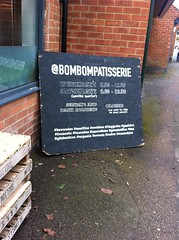 Bom Bom Patisserie - Loughbohemia (some call it Loughborough) (Paul Conneally) Tags: street text patisserie loughborough loughbohemia paulconneally chalkboards food coffee cafe bombompatisserie