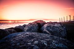 Sunset (Maria Eklind) Tags: stilllife bro solljus colorful öresund malmö solnedgång pink himmel bridge sky sunset water ön öresundsbron sweden skånelän sverige se
