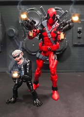 Hit-Monkey and Dead Pool (chevy2who) Tags: inch six figure action toyphotography toy legends marvel hitmonkey deadpool