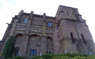 vista exterior lateral de la Basilica Castillo de Javier Navarra