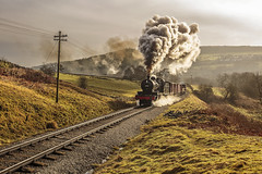 KWVR 2018_03_11_003 (Phil_the_photter) Tags: steam steamengine steamloco steamrailway steamgala kwvr keighley 70013 olivercromwell black5 blackfive 44871 oakworth coaltank 1054 7f 53808 oxenhope