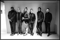 DeRobert & The Half-Truths (pix2loz) Tags: soul funk groove music bw nb derobert photography lights trumpet saxo guitar bass drums frontman backstage