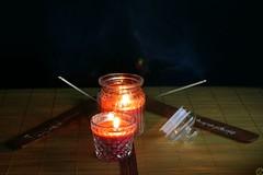 Essai Zen (cyrille godard) Tags: zen bougie encens incense candle