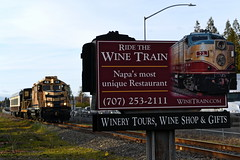Not exactly advertised (caltrain927) Tags: napa valley railroad wine train tourist passenger emd gp20 gp20u ex atsf sierra railway ge 80 tonner 80tonner california ca