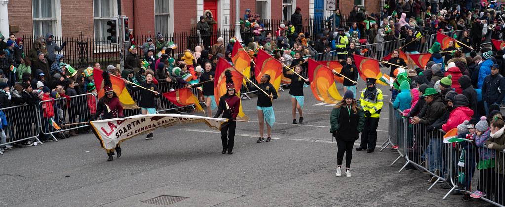 La Cañada High School Marching Spartans[ Patricks Day Parade In Dublin 2018]-137606