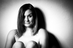 black white (Zscherny) Tags: woman balck white person model eyes hair schwarz weis lightroom photoshop beauty dish nikon