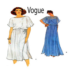 Vogue 7226 grecian dress gown (FindCraftyPatterns) Tags: casualelegance eveninggown daydress 80svintage vogue7226 womensewingpattern tunicslipdress overdress grecian size12