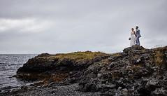 Eva & Matthías (LalliSig) Tags: wedding photographer iceland hafnarfjörður brúðkaup brúðkaupsljósmyndari lallisig lárus portrait portraiture ocean water beach cliff