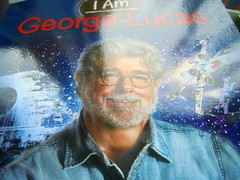 DSC02363 (classroomcamera) Tags: school classroom george lucas i am book books paperback paperbacks softcover softcovers hardback hardbacks hardcover hardcovers glare glares glaring shine shines shining shiny cover covers death star space ship ships spaceship spaceships fly flies flying biography biographies