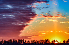 A colorful sunset along the country roads of Cambridge, Ontario, Canada. (mikemccumber) Tags: sunset sunsets sunlight color colors colorful beautiful cambridge ontario canada