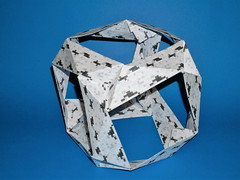 Twisted cube (ISO_rigami) Tags: modular origami 3d a4 paper cube eckhardhennig minecraft