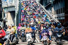 Motorcycles in Taiwan (Jennifer 真泥佛) Tags: 機車 台北橋 尖峰時間 上班時間 rushhour autobike 機車族 台北市 taipei taiwan sonya7r2
