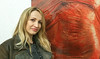 UDINE. DANIJELA ALLA MOSTRA. (FRANCO600D) Tags: danijela danijelasan gigiturco mostra mostrafotografica allegoriecorporee ud udine fvg friuli friuliveneziagiulia laloggiaudine bionda ragazza girl tela quadro sorriso ritratto red rosso blonde samsung note4 franco600d 511 34 10
