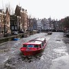 Amsterdam. Canal boat in frozen canal. (elsa11) Tags: amsterdam winterinamsterdam herengracht huidenstraat frozencanal bevrorengracht amsterdamsegrachten amsterdamcanals winter ijs ice noordholland nederland