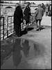 El reflejo (cristinatiad) Tags: blackandwhite blancoynegro canon streetphotography streetphoto street river brigde mirror avila