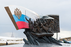 Memorial to the heroes of WW1 (D. R. Hill Photography) Tags: moscow russia memorial warmemorial ww1 worldwar1 poklonnayahill flag soldier russian nikon nikond7100 d7100 50mm nikon50mmf14g primelens fixedfocallength travel