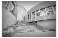 Phoenix - 10/52 (pratyush-pandya.com) Tags: sony phoenix arizona architecture blackandwhite monochrome outdoor southwest ilce7rm2 1635gm mirrorless wideangle building stairs wall