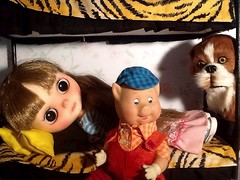 Blythe-a-Day#9 You're a Doll&13# Dogs: Barkley Eyes Marcelle's Three Little Pigs Doll