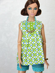 Jasmine - Spy a go go (Levitation_inc.) Tags: fashion doll dolls ooak handmade dress outfit levitation levitationfashion royalty nuface nu face poppy parker fr2 made move barbie bright mod colorful colors spy go