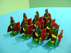 Custom Lego Roman Legionary soldiers (TekBrick) Tags: lego custom roman legionary soldier legion army helmet shield spear cape red armor armour moc