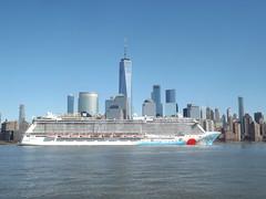 Norwegian Breakaway, Cruise Ship, Hudson River, New York City (lensepix) Tags: norwegianbreakaway cruiseship hudsonriver newyorkcity ship skyline newyorkskyline