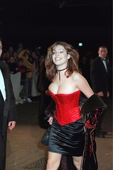 Mandatory Credit: Photo by Tony Larkin/REX (301191z).KELLY BROOK.THE BRIT AWARDS, LONDON, BRITAIN - 1999.. (antoniusbudyono11) Tags: brit awards london britain 1999 kelly brook brits award tv presenter red corset cleavage black satin skirt silk material fashion model tvpresenter alone personality 2045558