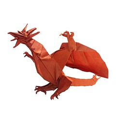 Dragon 2.0 refold (diagram version) (Mdanger217) Tags: max danger origami dragon 20 biotope